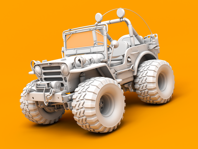 Wild Willy Jeep tamiya model willy wild car jeep rendering 3d