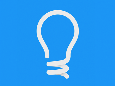 Lightbulb Logo simple logo company light bulb clever.io