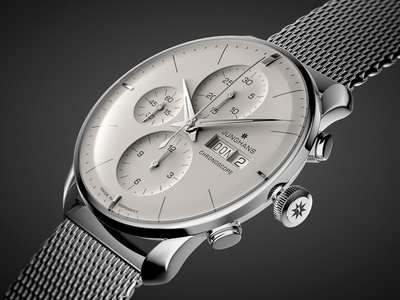 Junghans Chronoscope cgi cg model visual chrome time cool black rendering watch junghans 3d