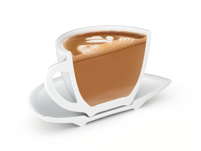 Flat White – Coffeeposter cappuccino rendering coffeeposter poster 3d coffee flat white