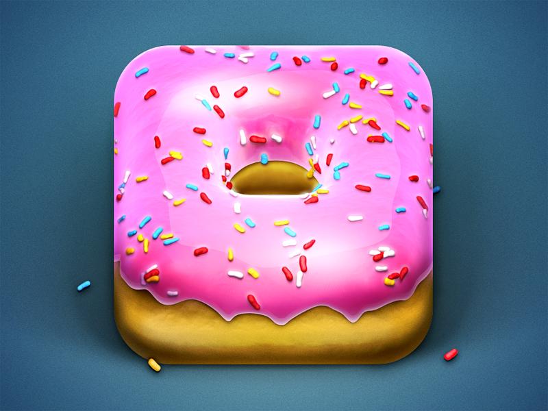 ♥ Donut iOS ICON ♥ iphone ios icon rendering donut food fockenhungry omnomnom yummy sugar sweet luuuuuuuuuvbraaaaaa ♥ ❤ ❥ ❣ ❦ ❧