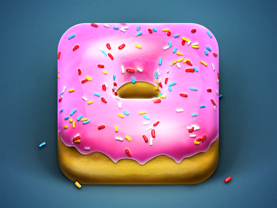 ♥ Donut iOS ICON ♥ iphone ios icon rendering donut food fockenhungry omnomnom yummy sugar sweet luuuuuuuuuvbraaaaaa ♥ ❤ ❥ ❣ ❦ ❧