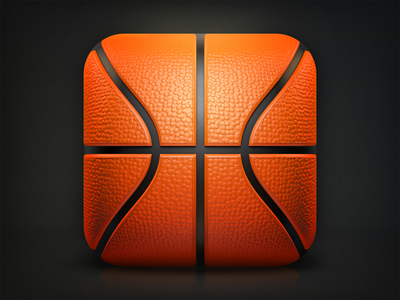 Basketball iOS Icon – Making-Of
