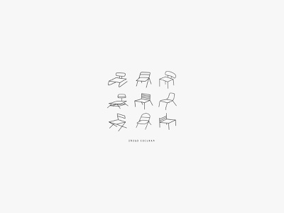 Welcome EP minimalistic minimal chair chairs musician art music art album ep music typography illustration branding