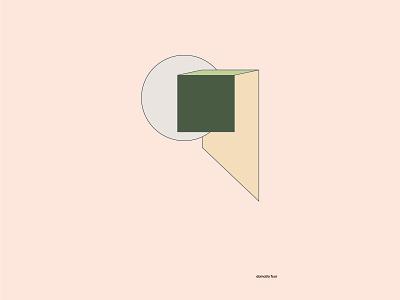 domatio four space room artwork illustrator art geomtery shapes pastel colours gradients color illustration flat vector pastels pastel color illustraton pastel