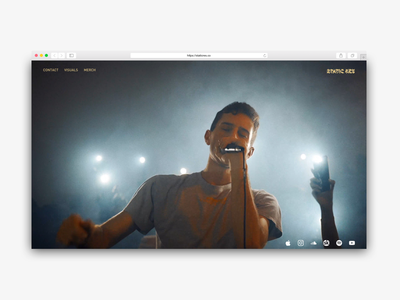 StaticRes Home Concept 1 website design staticres glitch minimal video ui design uidesign uxdesign ui  ux uiux webdesign web branding ux logo design ui