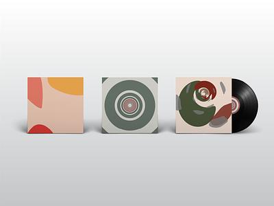 Amorous Visual Language mockup vinyl record record vinyl cover vinyl 70 pastel colors color palette 70s trippy blobs amorous branding illustration color design flat pastel