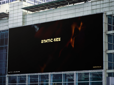 Static Res Promotion Billboard 1 concert photography ae art glitchart aftereffects stationery glitch billboard mockup billboard staticres