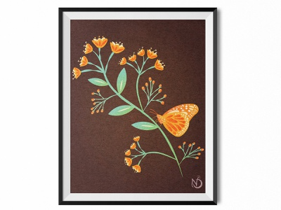 The Beauty of Change photoshop illustrator drawing nature plant vectorart vector digital art design illustration color butterfly