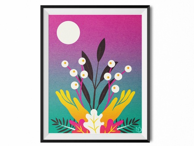 Cultivate joy life love cultivate plant nature design nature art graphic design digital drawing digital art vectorart vector photoshop illustrator drawing illustration color