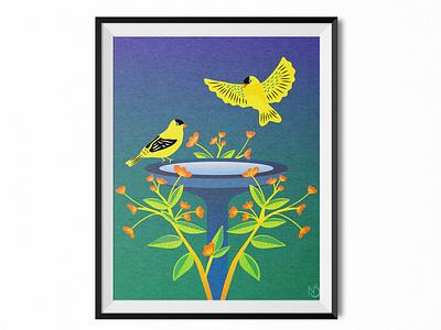 Wanna Grab a Drink? gradient color adobe plant nature design bird nature art graphic design digital drawing digital art vectorart photoshop vector drawing color illustrator illustration