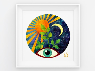 I receive love, joy, light and abundance from the universe! joy love abundance life eye universe moon sun nature nature art graphic design digital drawing digital art photoshop color illustrator drawing illustration