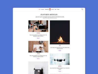 Minimy - Minimal Blog Page