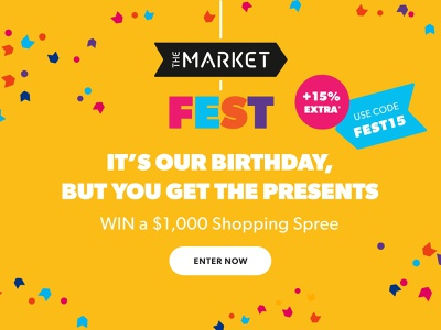 TheMarket Fest creative assets graphic design