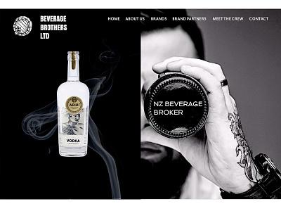 Landing Page Design black and white beverage web design landing page design