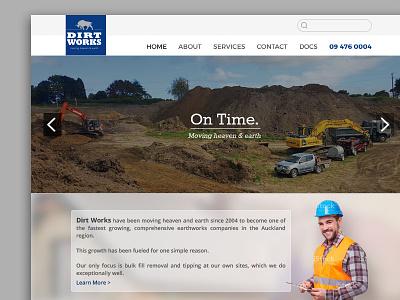 Dirtworks Landing Page landing page design website design