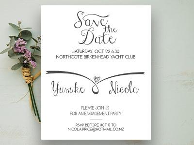 Engagement Invitation wedding invitation design engagement