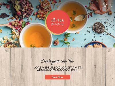 Joi Tea Landing Page website design landing page design tea