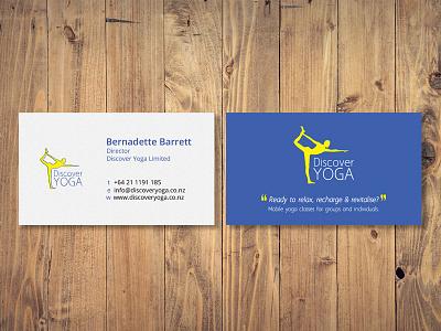 Discover Yoga Business Card design card business