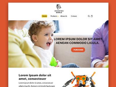 Inventrix World Landing Page Design uiux landing page design website design