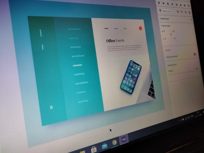 Office Event UI illustration web experience design creative digital art color clean user interface typography design thinking relevant minimal vector web design branding design uiux layout design dribbblers graphic design