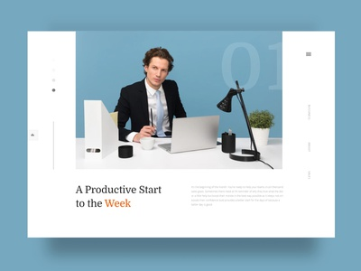 Productive Start UI vector flat responsive elements user interface ios layouting visual creative website web minimal color clean ux ui typography dribbblers graphic design design