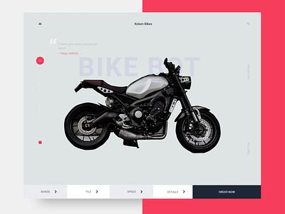 Kolum Bikes Web Design concept interface stores ecommerce vector shop ios color web product design ui ux e commerce bike minimal clean a ui everyday ui everyday ui typography design