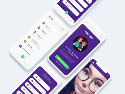 Snapchat Redesign Challenge uplabs dailyui interface application color flat design productdesign snapkit app uiux typography user interface minimal vector illustration design thinking ui dribbblers graphic design design