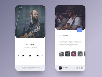 Music Player UI mobile lyrics play ui ux music player app song artist clean ux ui interface sound soundwave app music playlist color typography graphic design design
