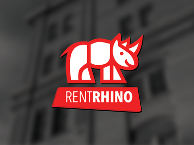 RentRhino Logo rentrhino apartments leasing landlords red white service sass