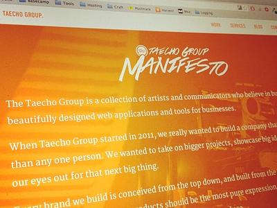 Taecho Tease taecho orange white manifesto
