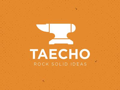 Rebranding Taecho grit anvil white orange rebranding