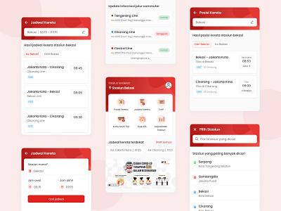 Commuterline App design app krl access commuterline train app mobile ux ui