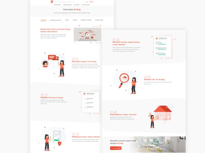 How It Works Page home howitworks website illustration clean ui app design