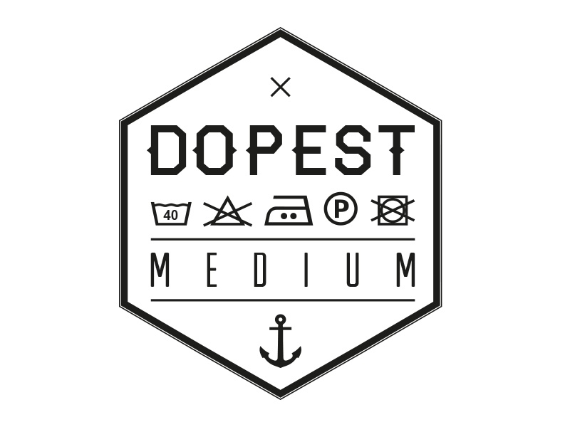 dopest clothing shirt size shirt clothing label mode dope dopest clothes logo vector black white retro vintage print screenprint printing shirts german germany brand hamburg hannover hipster art design illustrator creativ marketing branding fashion