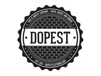 dopest clothing sticker