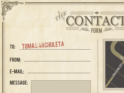 True Fit Contact Form typography vintage tattoo texture contact map