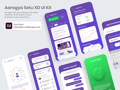 Aaarogya Setu Redesign redesign mobile app design brand identity uiux user interface ux ui