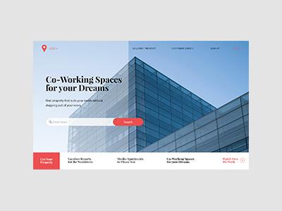 Property Search Portal building portal property web design uiux landing page website user interface ux ui