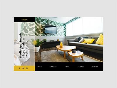 Real Estate Website interior apartment design user interface website web design ux uiux landing page ui
