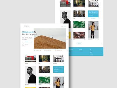 IdeaBook Website pinterest design user interface website web design ux uiux ui landing page