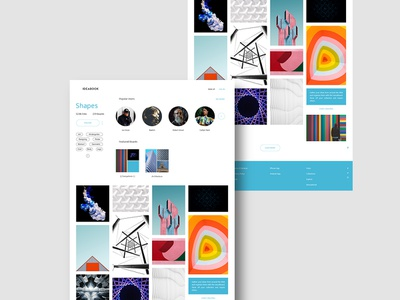 Ideabook Topic Page pinterest design user interface website web design ux uiux ui landing page