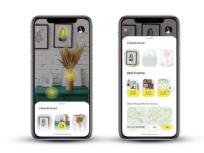 AR Search App augmented augmented reality web design ios mobile app design mobile ui iphone x mobile app iphonex user interface ux ui uiux landing page