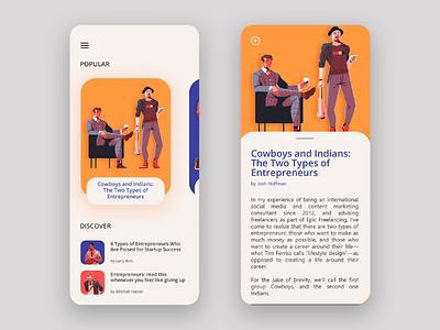 Blog App Concept illustration blog mobile app mobile app design uiux user interface ux ui