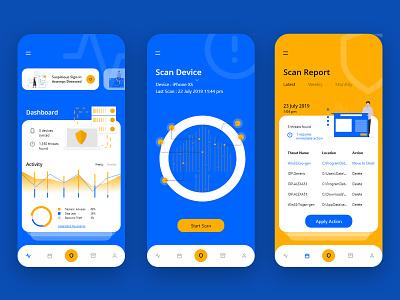 Threat Scan App Concept security app scan hack mobile app mobile ui undraw adobe xd uiux ux user interface ui