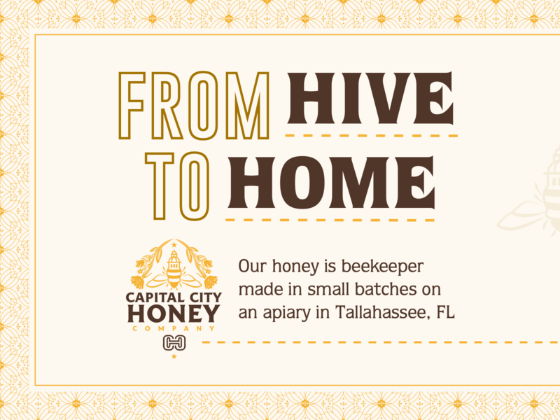 Capital City Honey Company - Brand & Package Design candle home hive flower star logo capital honeybee honey