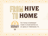 Capital City Honey Company - Brand & Package Design candle home hive flower star logo capital honeybee honey