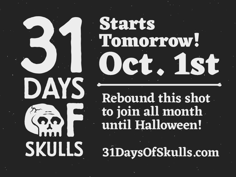 31 Days Of Skulls halloween skull 31daysofskulls