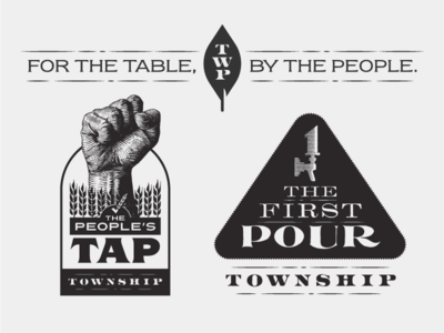 Township Logos vector lines twp tap beer leaf logo township