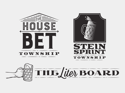 Township Logos vector lines twp beer stein logo township